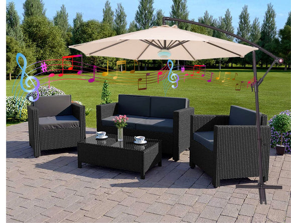 3M Bluetooth Garden Parasol with Optional Cover