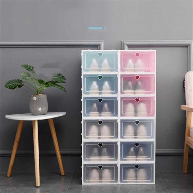 Clear Stackable Storage Boxes - Set of 3