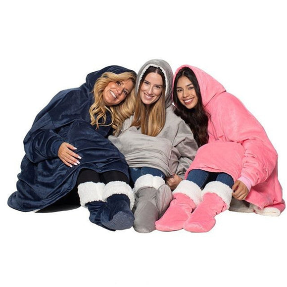 Hooded Fleecey Snuggle Blanket (4 Colours)