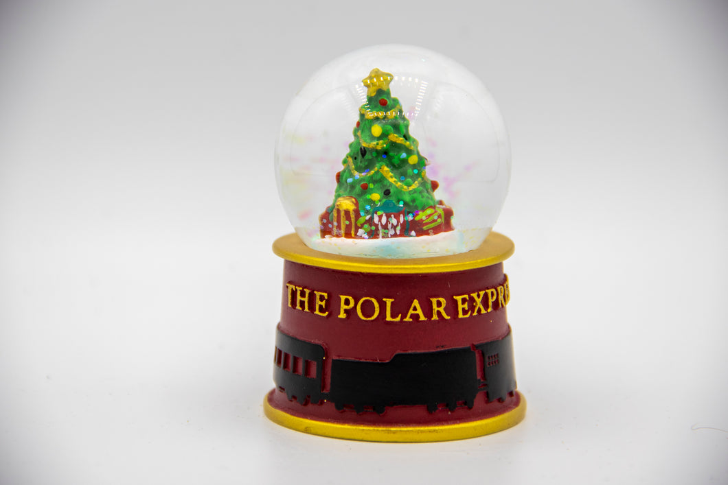 The Polar Express Lighted Snow Globe Christmas Tree