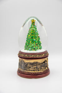 The Polar Express Collectible Bronze Christmas Tree Snow Globe