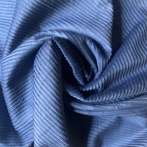 Violet Blue light weight Corduroy Velvet, cotton 100%, for a 70s inspired vibe and an absolute retro appeal.