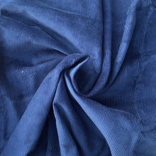 Load image into Gallery viewer, Royal Blue Milleraies Velvet, cotton 100%. Deadstock quality from Our Social Fabric