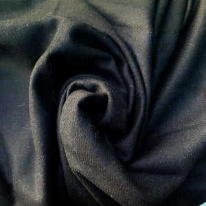Wool Felt, Pitch black. Lightweight yet warm. Vintage deadstock from Our Social Fabric.