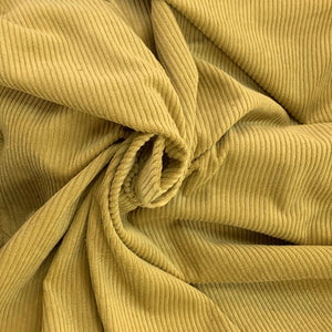 Anise Green light weight Corduroy Velvet, cotton 100%, for a 70s inspired vibe and an absolute retro appeal.