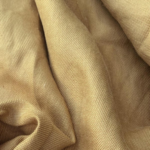 Mustard Cotton / Raw Linen Blend