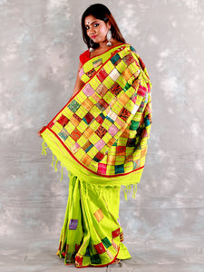 Green Khesh Baul Aplik Saree