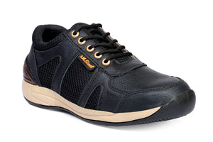 Men's Black Leather Safety Shoes