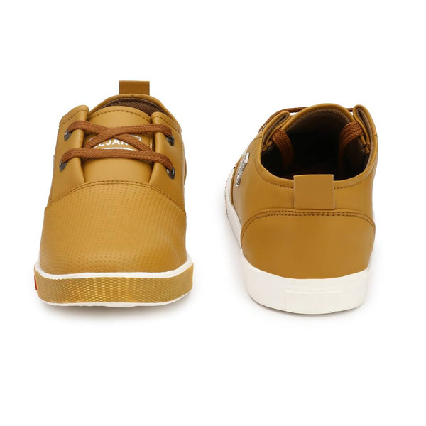 Tan Synthetic Causal Sneakers Shoes for Men's