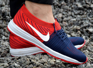 Men's Multicoloured Flyknit Sports Running Shoes