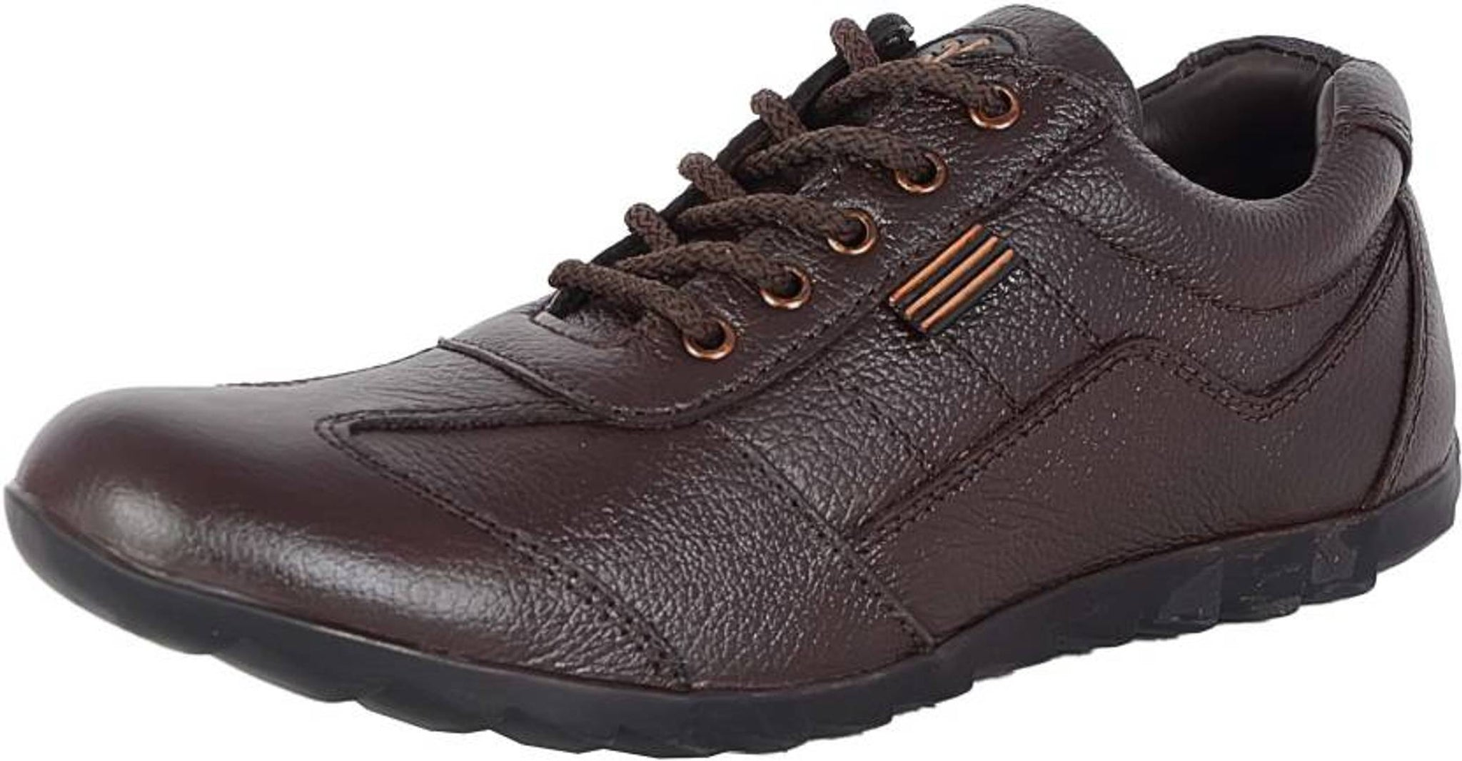 Stylish Men's Brown Leather Casual Shoes