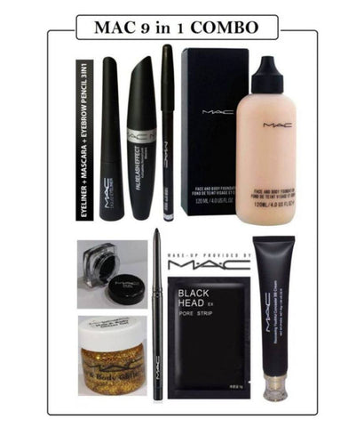 Mac Ultimate Combo Of Face Care & Makeup Set Pack Of 9