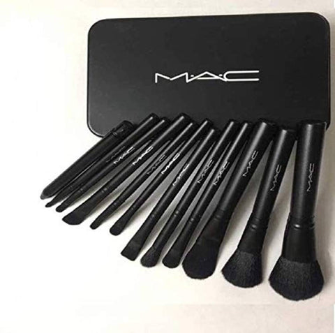 Mac Professional Makeup Foundation Brush Set (Pack Of 12)