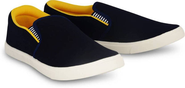 Comfy Black Fabric Casual Shoe For Men loafers