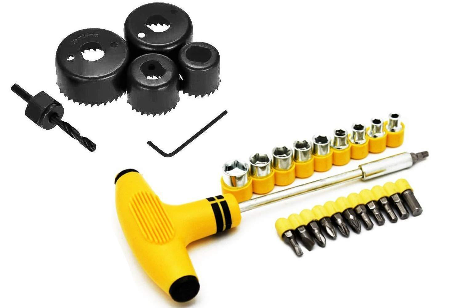 Your Brand Metal Saw Cutter and Tspanner Socket Set (Black, 30-Pieces)