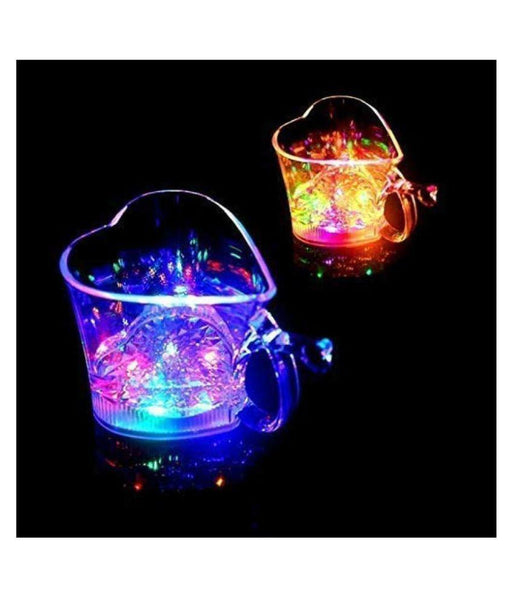 759 Heart Shape Activated Blinking Led Glass Cup