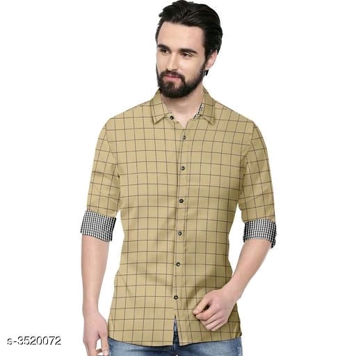 Classy Trendy Men's Casual Cotton Solid Shirts
