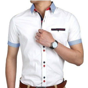 Casual Cotton Slim Fit Solid Men's Shirt