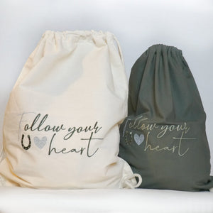 """Follow your heart"" Gymbag - Biniebo"