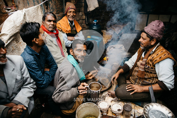 Local men having coffee and discussion in Mathura, Uttar Pradesh