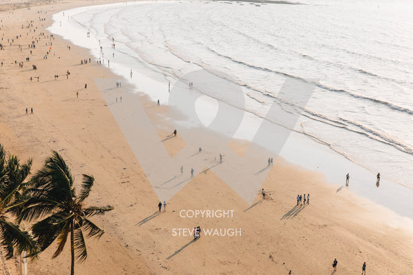 Aerial photograph of Juhu Beach, Mumbai.