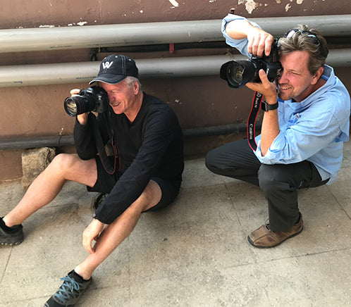 Steve Waugh and photographer behind the scenes of shooting for the book content