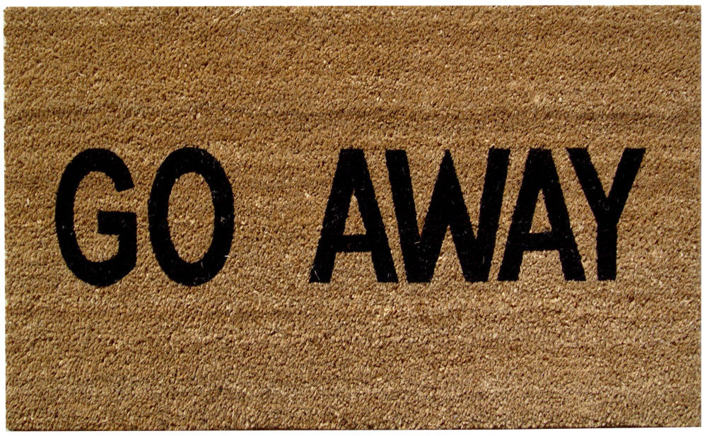 Go Away Doormat Mats Matter