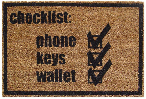 Check List Doormat