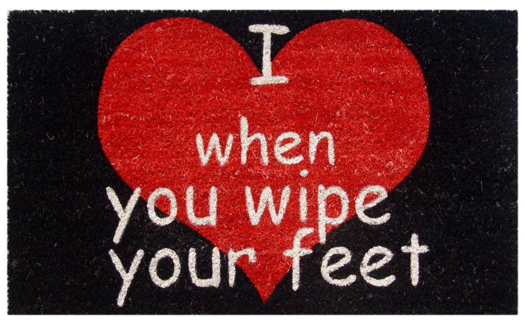 I <3 when you wipe your feet