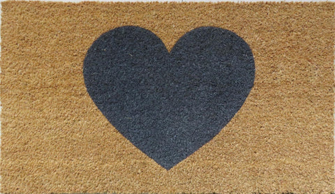 Grey heart Mat