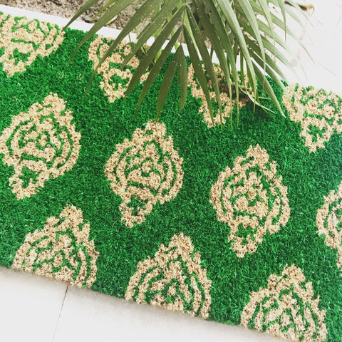 Forest green doormat