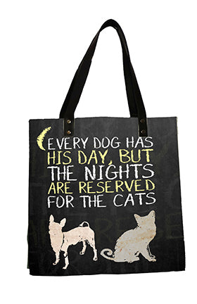 Dogs and Cats Yellow Bag