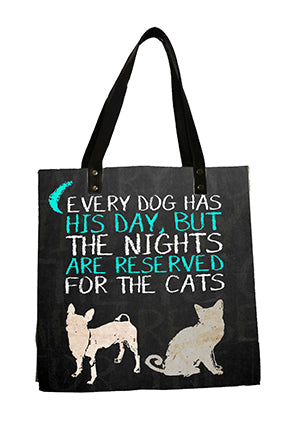 Dogs and Cats Blue Bag
