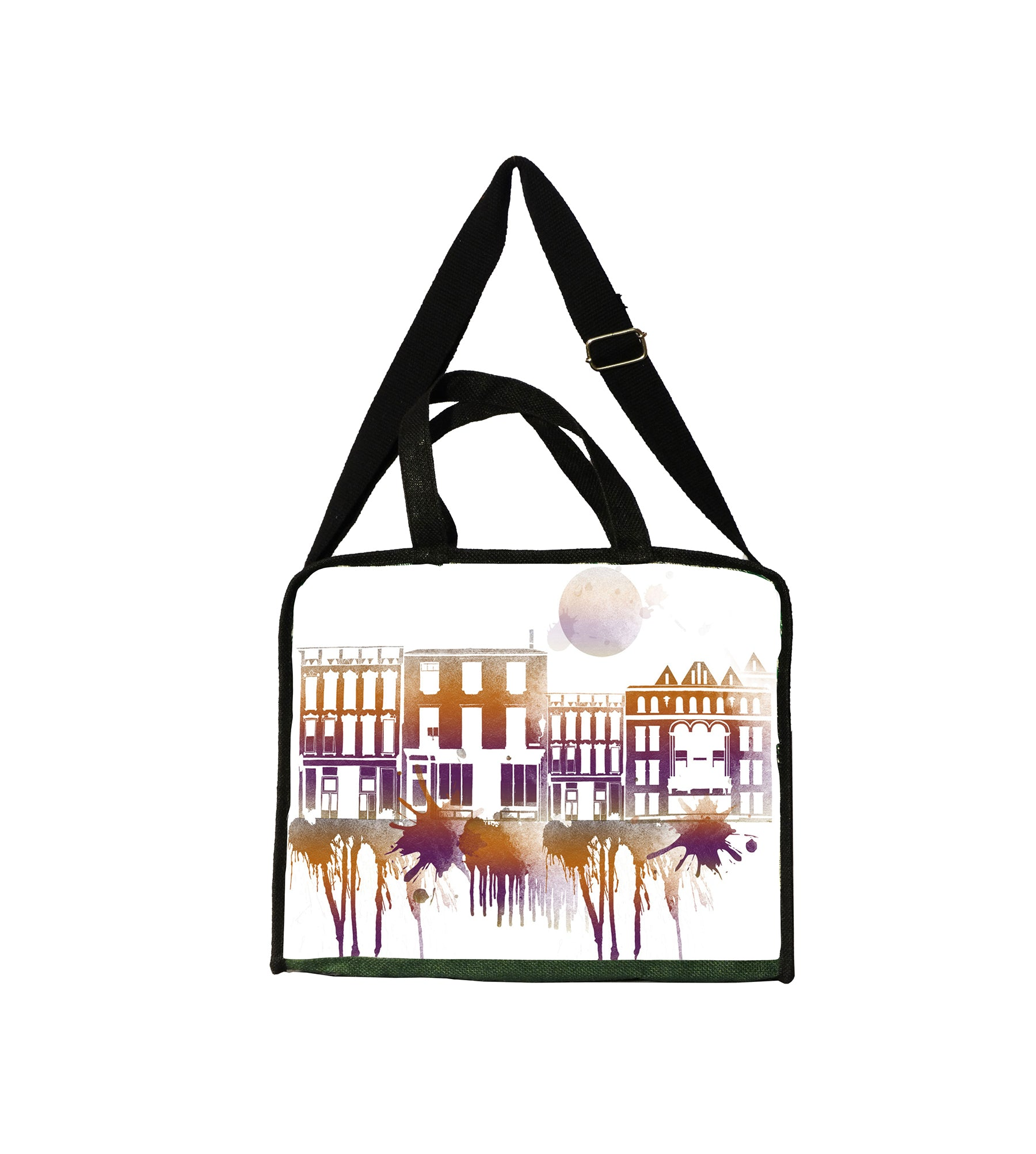 Pink Cityscape Bag