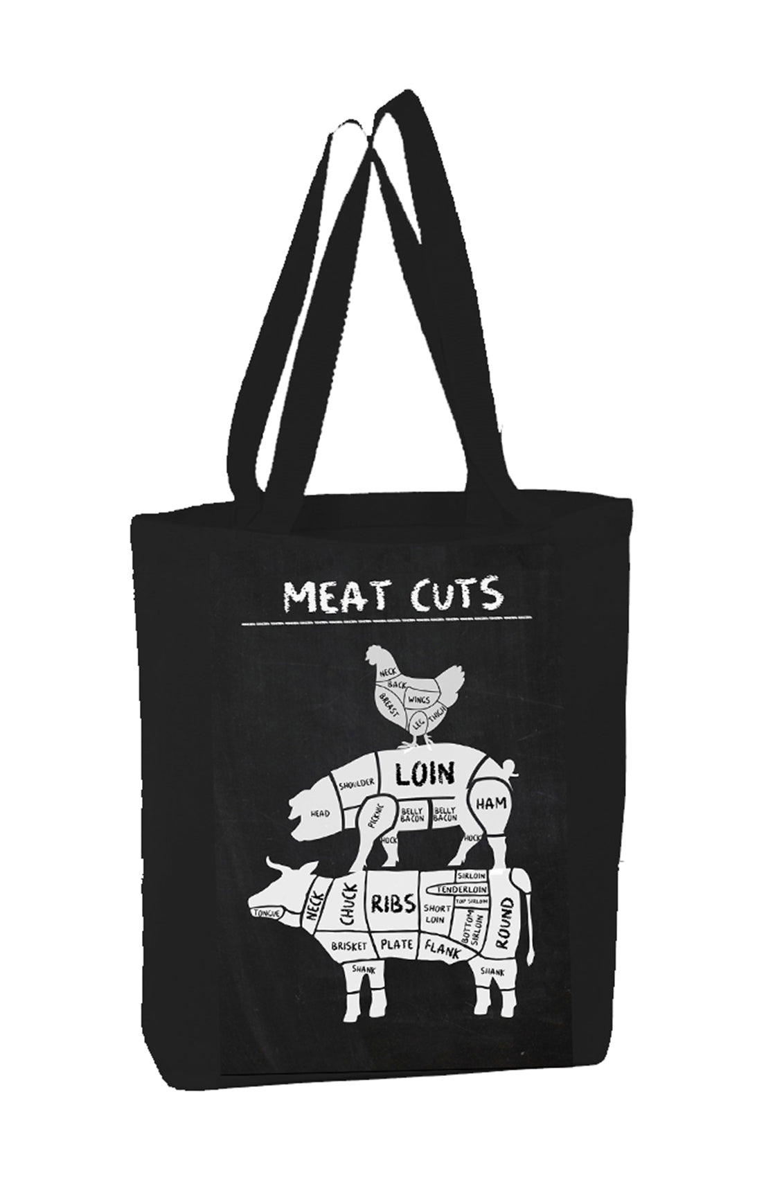 Meat Cuts Black Bags