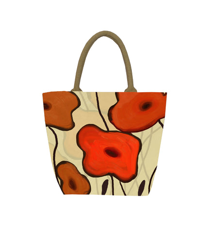 Orange Flowers Bag