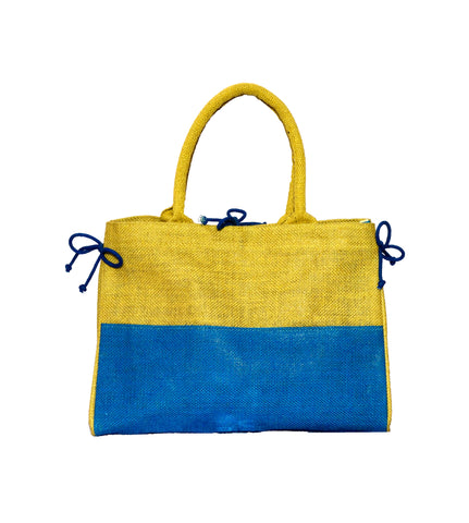 Natural and Blue Bag