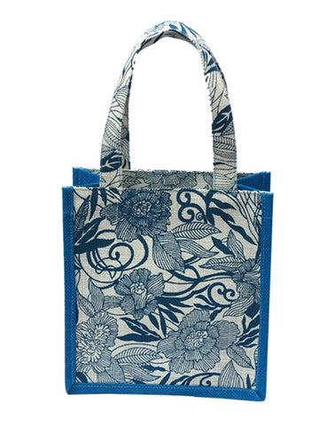 Blue Floral 2 Small Bag