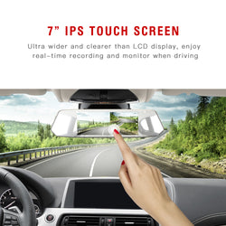 Toguard CE35  Dual lens Dash Cam  Camera  Touch Screen    Front for Cars Backup Camera