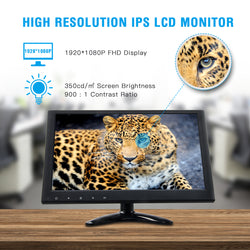 Toguard D129  inch IPS TFT Monitor HD 1920x1080 Small Portable Display Screen