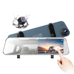 Toguard CE34 dual Lens Dash Camera Touch Screen Front for Cars Backup Camera