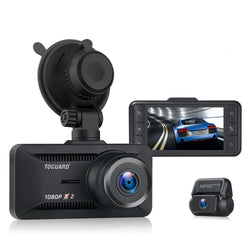 Toguard  CE63  Dual Lens Dash Camera   for Cars Backup Camera  Support External GPS Logger