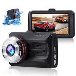 Toguard  CE23-1 Dual Dash Cam Front and Rear Night Vision 1080P Car Camera