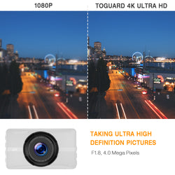Toguard CE52 4K  Dash Cam Ultra HD 3'' LCD 170° with Night Vision Parking Monitor
