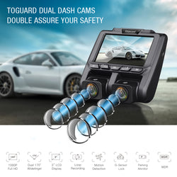 Toguard CE45 Uber Dual Dash Cam Full HD  1080P Inside and Outside Car Camera