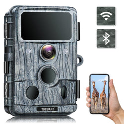 Toguard H200 4K Native WiFi Trail Camera - 30MP Game Camera with 940nm No-Glow IR LEDs Night Vision 0.2s Motion Activated Hunting Camera
