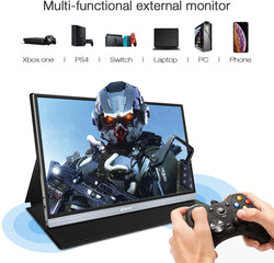 "Corprit D158 Upgraded 15.6"" 1080P FHD USB Portable Monitor for Laptop"