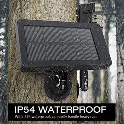 Toguard BC203 Trail Camera Solar Panel DC 5V/6V/9V/12V 2500mAh Solar Power Bank IP54 Waterproof