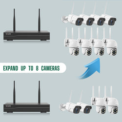 Toguard W310 Wireless Home Security Camera System Outdoor PTZ Cameras and Bullet Cameras