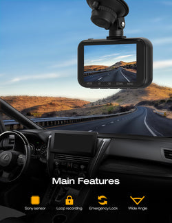 Toguard C200 4K ,2160P & 1080P Front and Rear Dual Dash Camera 3 inch LCD Display